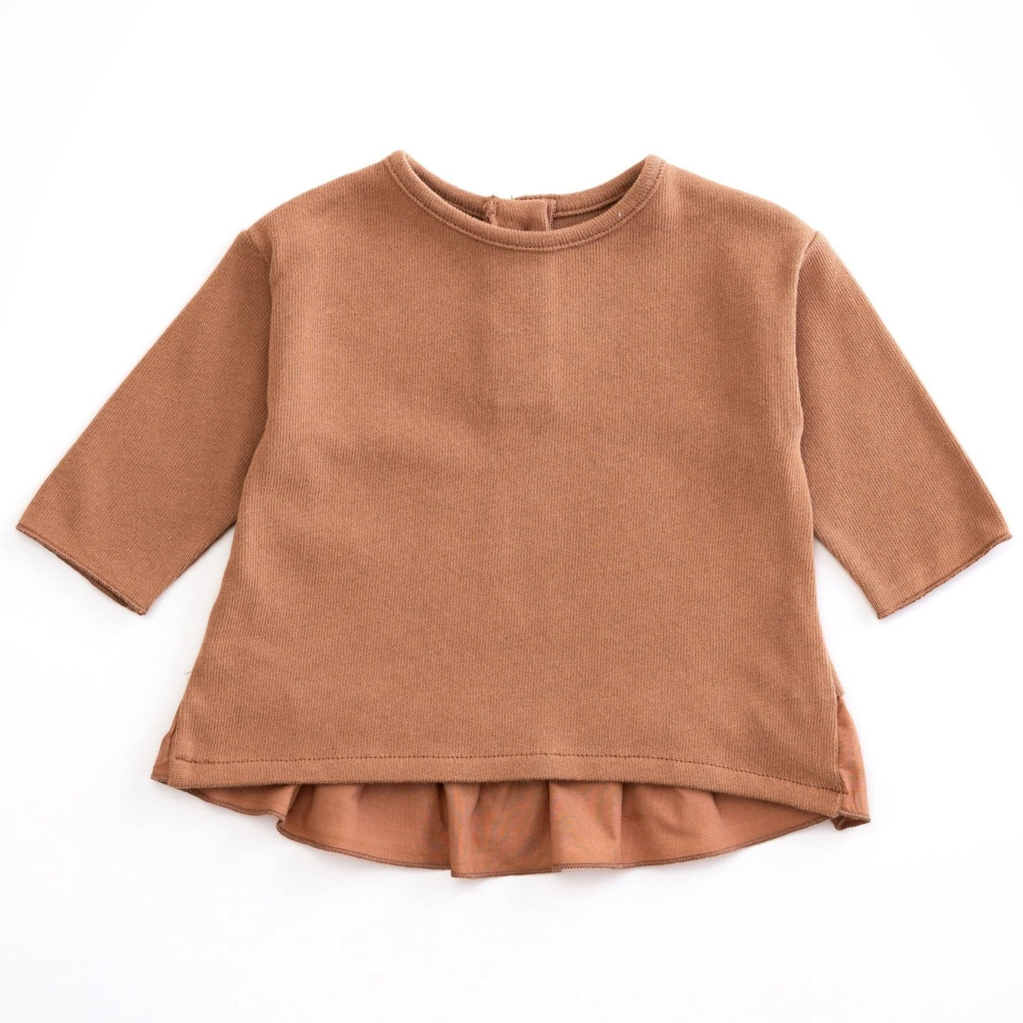 PLAY UP Pullover Langarm- Shirt Jersey mit Volants Organic Cotton