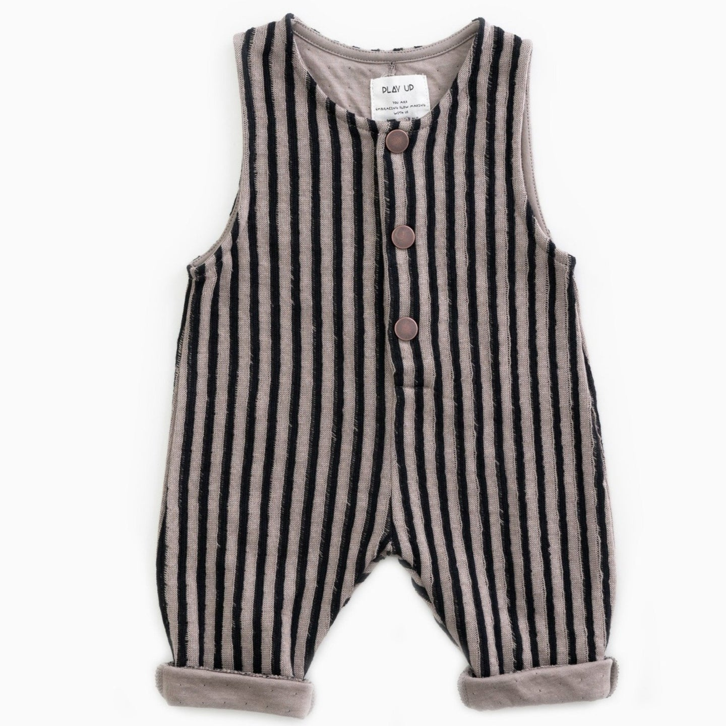 PLAY UP Jumpsuit gestreift Organic Cotton