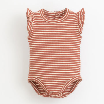 PLAY UP Body ärmellos gestreift mit Volants Organic Cotton