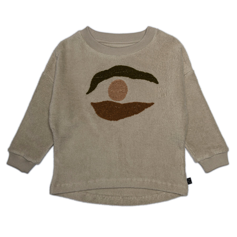 MONKIND Sweatshirt Fog Rise Organic Cotton
