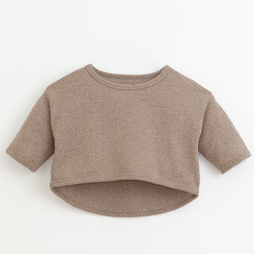 PLAY UP Strick Pullover Cropped Organic Cotton