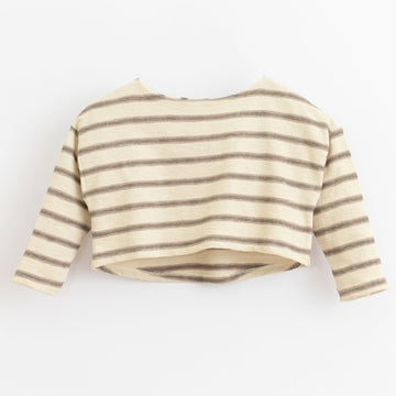 PLAY UP Pullover Cropped gestreift Cotton