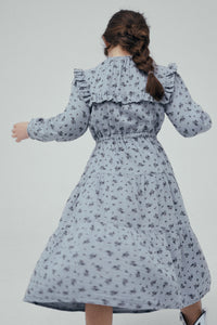 The New Society Kleid Sarah mit Volants Cotton Musselin