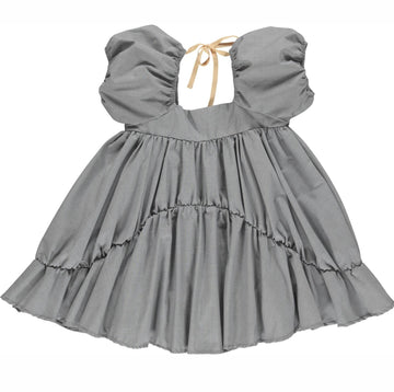 Gro Kleid Jo Volume mit Volants Cotton