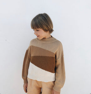 MONKIND Pullover Autumn Fields gestrickt Organic Cotton