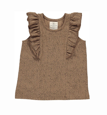 Gro Top Jane ärmellos mit Volants Cotton Jersey