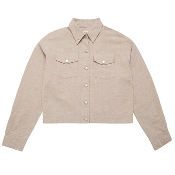 The New Society Jacke Cropped Lola Linen/ Cotton