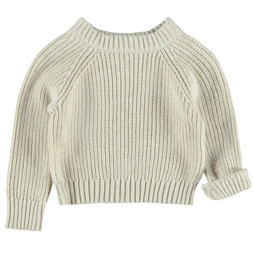 Lil`Atelier Grobstrickpullover Cropped NMFILUNA Organic Cotton
