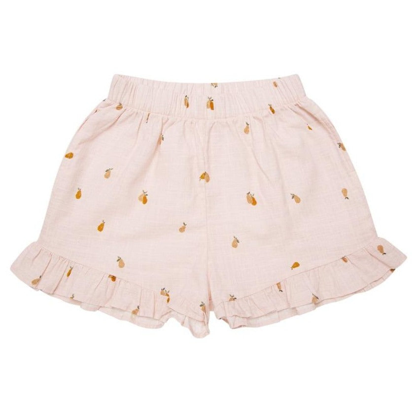 The New Society Baby Shorts Rachel mit Birnen Print Organic Cotton