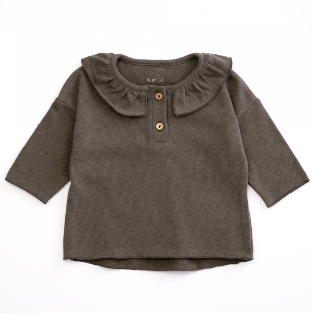 PLAY UP Langarmshirt mit Volants Organic Cotton