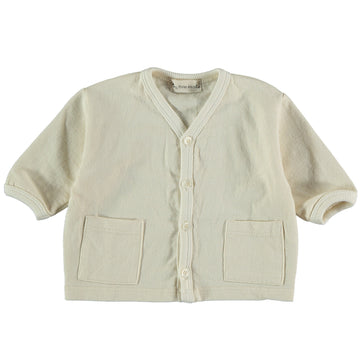 My Little Cozmo Baby Cardigan Jordan Organic Cotton Jersey