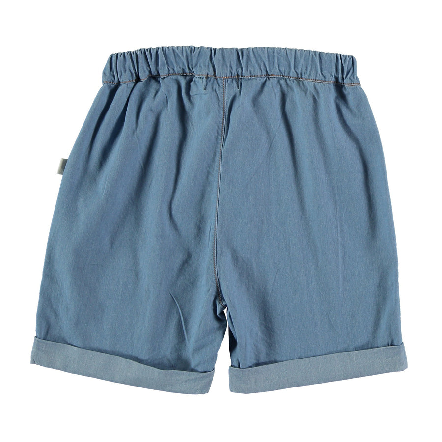 My Little Cozmo Shorts Chambray Oliver Cotton