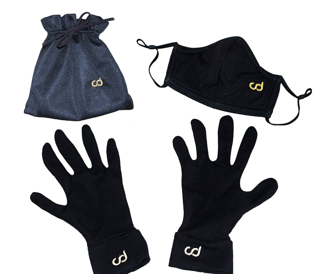 Masks, Glove and Bags Bundle (Black) - Chiki Diki