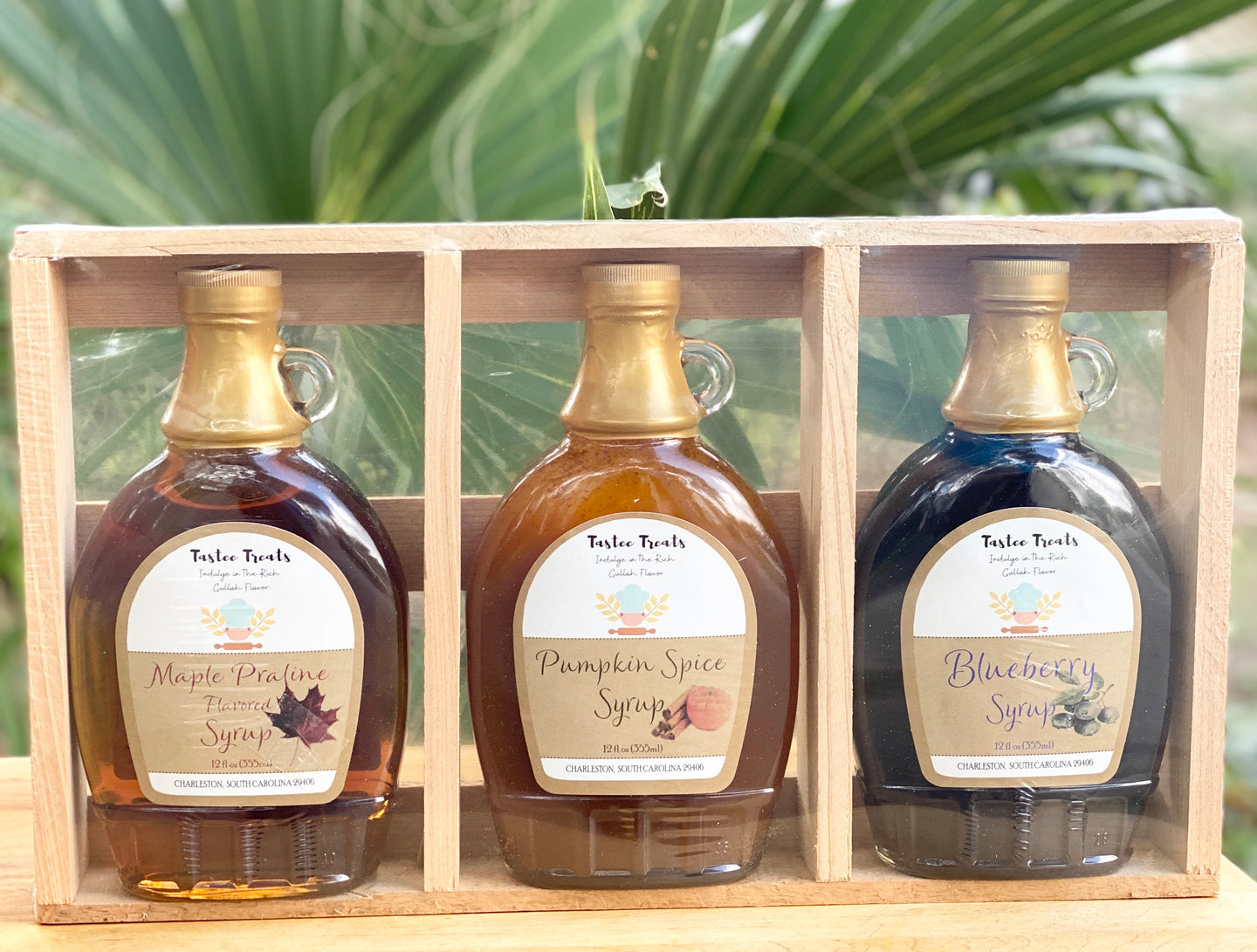 Handmade Assorted Syrups Collection-(Maple Praline, Pumpkin Spice, and Blueberry Flavors)
