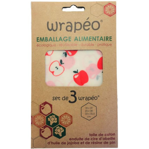 Wrapeo emballage alimentaire  set de 3