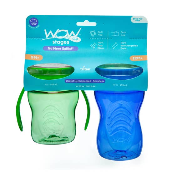 New WOW Cup Stages Two Pack Sippy Cups