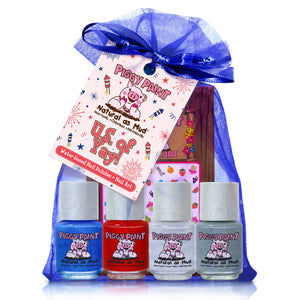 NEW Piggy Paint US of Yay! Nail Polish Set