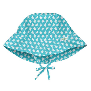 New I Play Sun Protection Hat Aqua Starfish geo