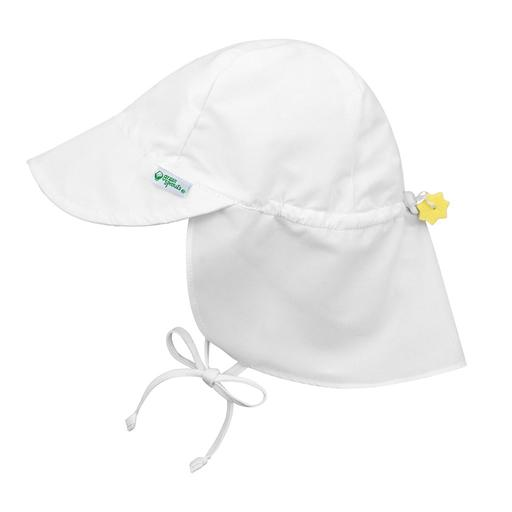 New I Play Flap Sun Hat White