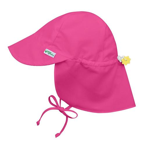New I Play Flap Sun Hat Hot Pink