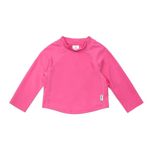 New I Play Rashguard Top Long Sleeve Hot Pink
