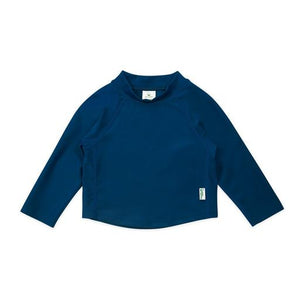 New I Play Rashguard Top Long Sleeve Navy Blue