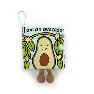 New Jellycat Soft Book I Am an Avocado