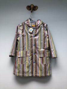 NEW Pluie Pluie Raincoat Shell Blue Stripe