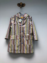 Load image into Gallery viewer, NEW Pluie Pluie Raincoat Shell Blue Stripe