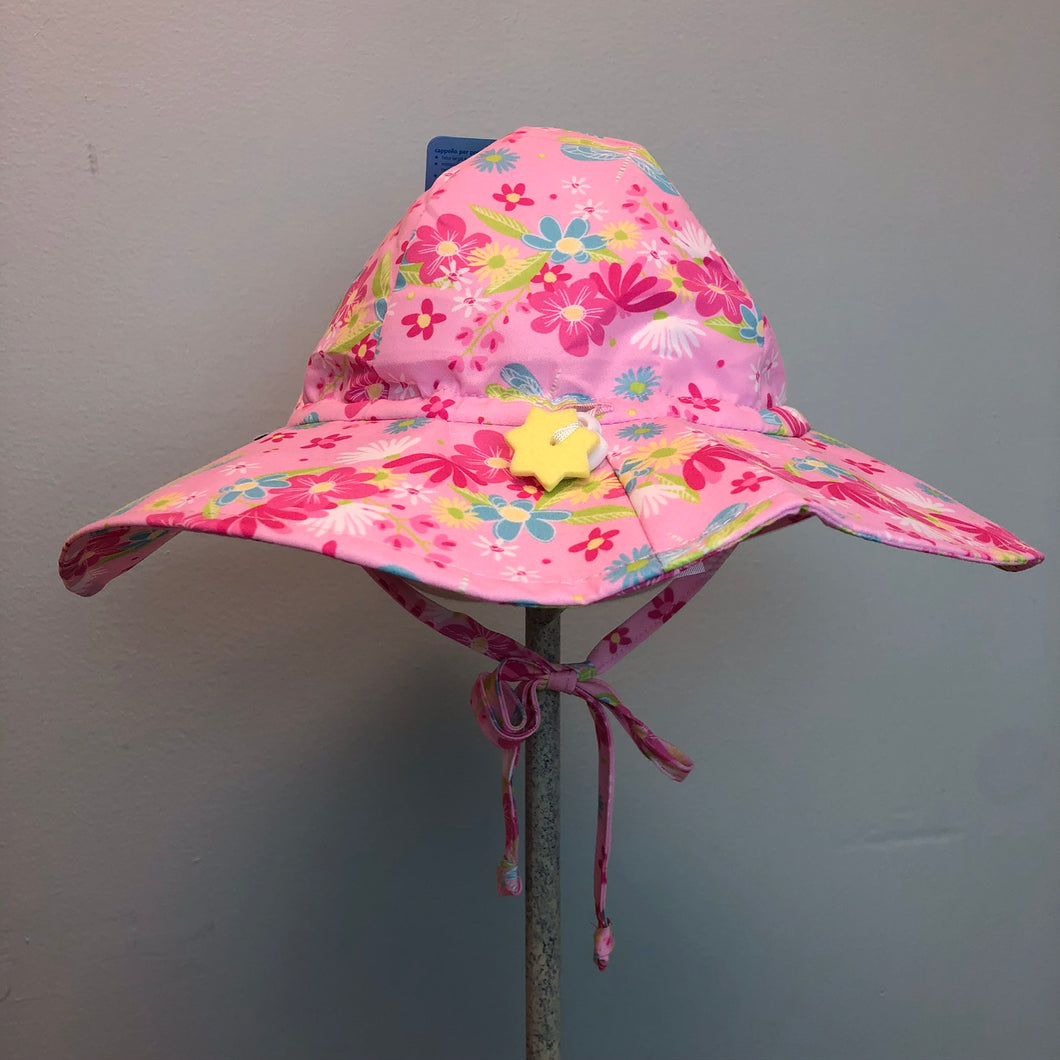 New I Play Girls Sun Protection Hat Pink Dragonfly