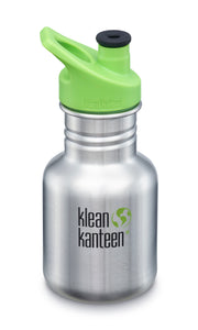 New Klean Kanteen Stainless Steel 12 oz Water Bottle Sport Cap Non-Insulated