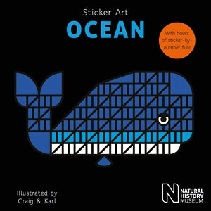 New Sticker Art Book: Woodland, Savanna, Jungle, Ocean