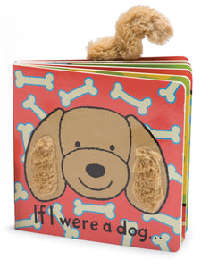 New Jellycat Board Book If I Were a Dog Toffee