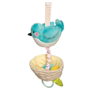 New Manhattan Toy Lullaby Bird Pull Musical Crib and Baby Toy