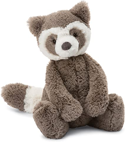 New Jellycat Bashful Raccoon Medium 12