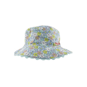 NEW Millymook Sun Hat Girls Reversible London Green