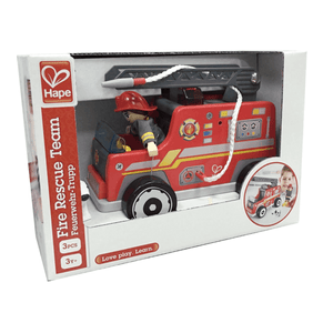 New Hape Fire Truck Wood Toy