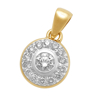 18ct Gold Bezel Set Pendant