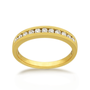 18ct Round Brilliant-cut 0.22ct TDW Diamond Band