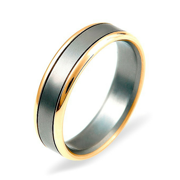 Dora 9ct Gold & Titanium Ring