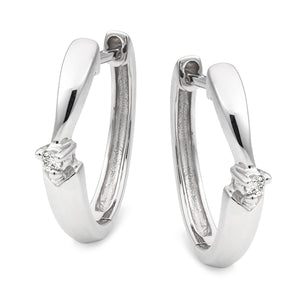 MMJ - Diamond Claw Set Huggie Earring