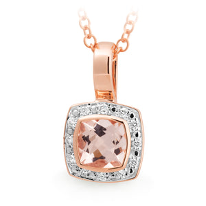 MMJ - Morganite & Diamond Pendant