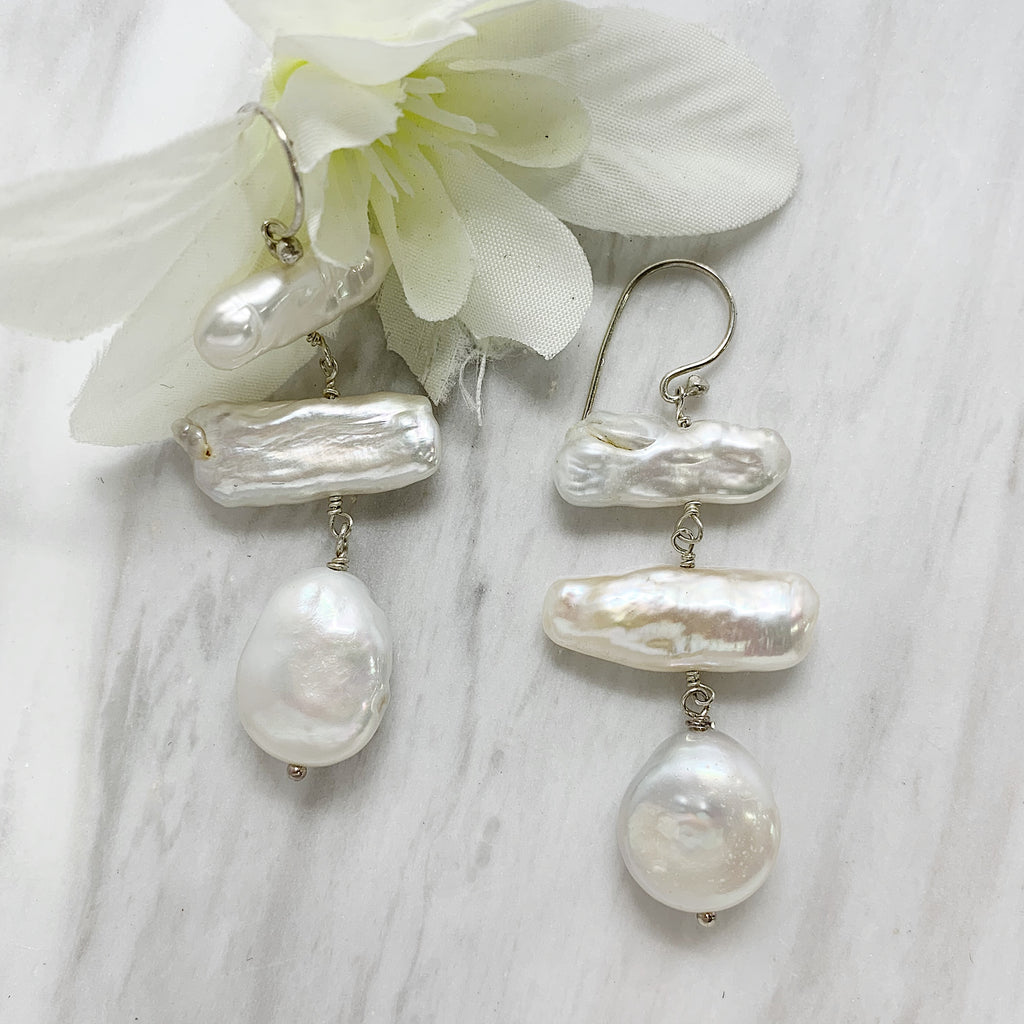 Multi Pearl Drop Earring