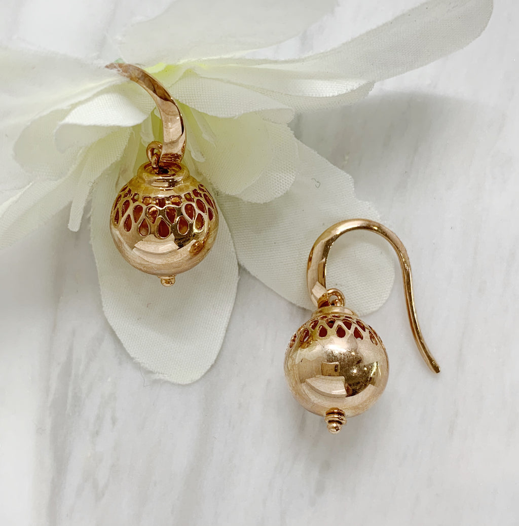 Rose Gold Lantern Earrings