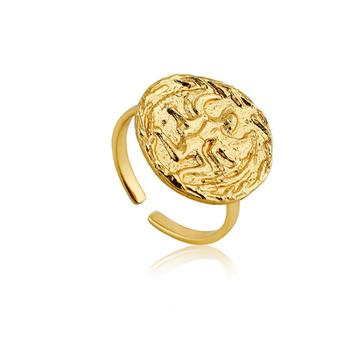 Ania Haie Gold Coins Elongated Open Ring