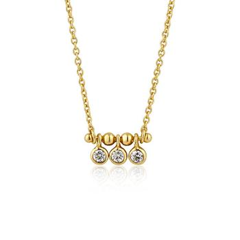Ania Haie Gold Touch Of Sparkle Triple Stud Necklace