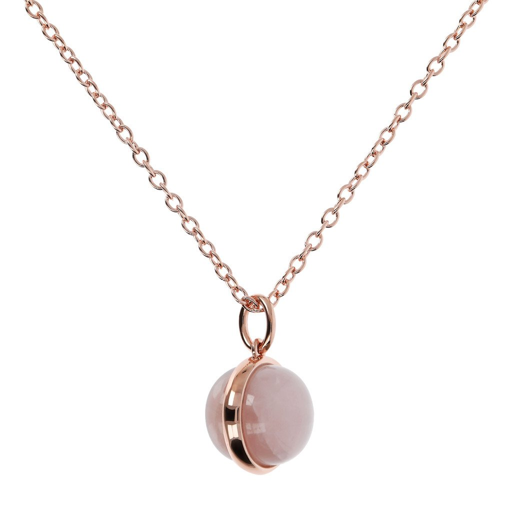 Alba Cabochon Cut Genuine Gemstone Pendant Necklace