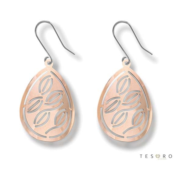 Tesoro Milano Lazio Rose Gold Drop Earrings