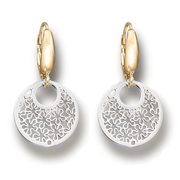 Tesoro Piccolo Limana White & Yellow Gold Drop Earrings