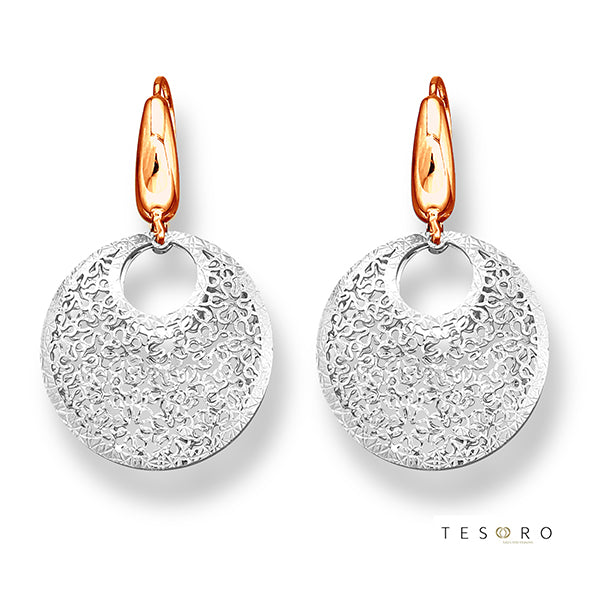 Tesoro Piccolo Navelli White & Rose Gold Drop Earrings